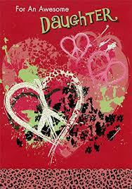 Amazon Com Hearts With Peace Symbols Daughter Designer