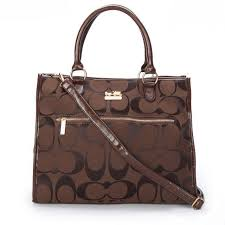 Coach Outlet Store Coach In Signature Large Coffee Totes APF 62.99 !Just  Click it.