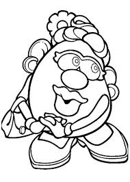 Small Picture Mr Potato Head Wife Feeling Shy Coloring Pages Bulk Color