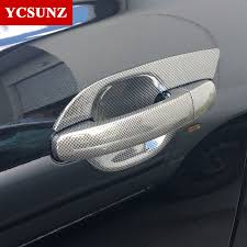 2018 2018 carbon fiber color door handle inserts for ford ranger t7 accessories abs car