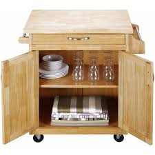 natural wood kitchen island trolley cart storage cabinet utility dining service 749273736383