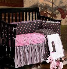 western paisley crib bedding set