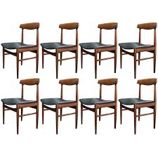 set of eight mid century modern danish dining chairs for sale at