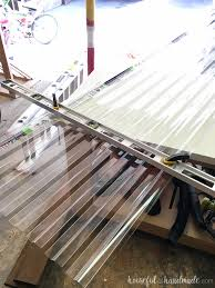 i love how easy the clear corrugated roof panels are to cut you can easily