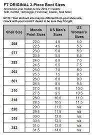 Mondo Ski Boot Size Chart