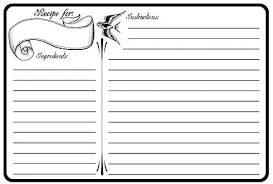 Full Page Recipe Templates Editable Recipe Binder Sheet Card Recipes Full Page Template