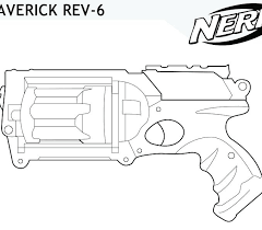 Nerf Gun Coloring Pages Free Collection Fun For Kids