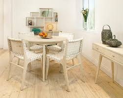 Round Country Kitchen Table White Mango Dining Table Wooden Round Kitchen Table