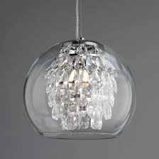 pendant lighting glass shades. Glass Globe And Crystal Pendant Light Lighting Shades