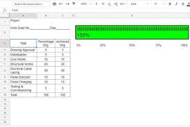 Cricket Score Sheet 20 Overs Excel How To Create Percentage Progress Bar In Google Sheets