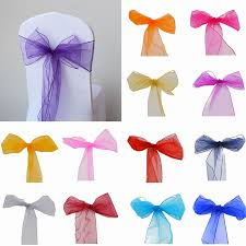 diy tulle chair sashes luxury 5pcs artificial craft organza chair sashes bow cover chair sashes