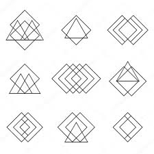Geometric Shapes For Design Set Of Geometric Shapes Triangles Lines For Your Design