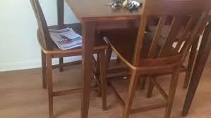 dining table assembly service in dc md va by furniture piece counter height pub