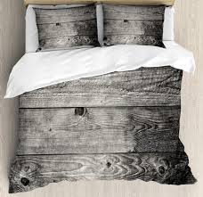 dark grey duvet cover set king size ombre style grunge wooden planks rustic timber oak wall rough texture bedding set victorian bedding cotton bedding sets