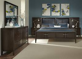 arterra 9 piece bed wall bedroom set in java finish by liberty furniture 842 br61pb