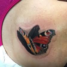 3d Butterfly Tattoo Venice Tattoo Art Designs