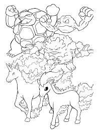 Pokemon Paradijs Kleurplaat Golem Geodude Graveler Rapidash Ponyta