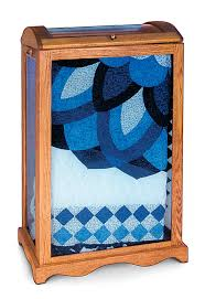 Large Quilt Display Case, Oak #01 Gold Dust from Simply Amish ... & Click ... Adamdwight.com