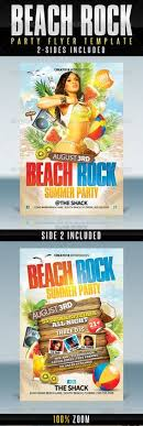 Beach Party Flyer Template Bundle Vol. 7 | Flyer Template, Party ...