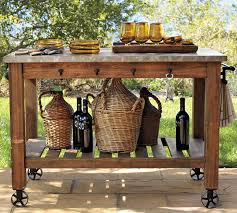 pottery outdoor potting bench