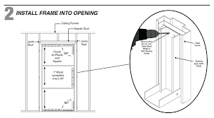 how to build a door jamb step 2 install the door frame into the rough opening how to build a door jamb image led install