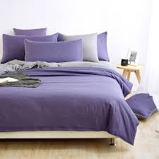 2017 brief bedding set purple gray duvet cover double side king queen solid bedding zebra bed sheet bed linen five size textile
