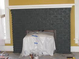 Gray Brick Fireplace Grey Painted Brick Fireplace Golfooinfo