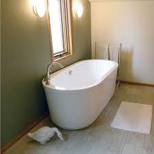 home bathroom elegant white ceramic stand alone bathtub with