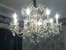 crystal chandelier vintage 8 light 3 by schonbek