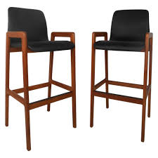 pair midcentury modern danish teak stools by tarm stole for sale