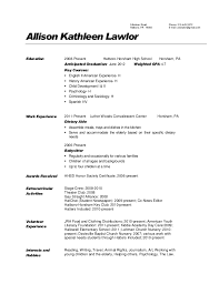 Dietary Aide Resume No Experience Dietary Aide Cover Letter Sample within Dietary  Aide Resume