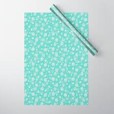 Christmas Snowflakes Pictures Seafoam Blue Green Christmas Snowflakes Wrapping Paper By Podartist