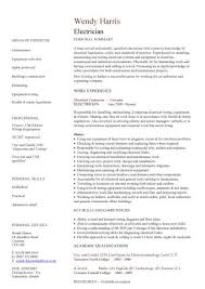 Electrician Cv Sample The Electrician Diagnoses Malfunctioning