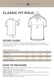 Polo Size Chart Sizing Guide