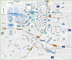 atlanta tourist map downtown atlanta tourist map downtown