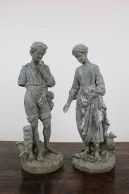 french lead garden statues
