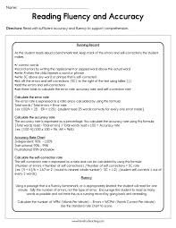 Reading Fluency And Accuracy Worksheet Have Fun Teaching