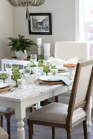 Satori Design For Living Eclectic Fall Tablescape In Green Gold White Satori
