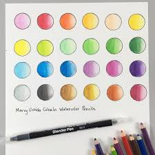 Create A Color Chart For Your Watercolor Pencils Using Our