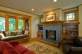 trending arts and crafts style rugs arts and crafts style living room craftsman style fireplace family