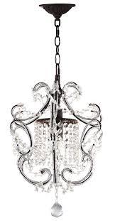 luna 1 light brown 12 inch dia adjule chandelier lit4437a