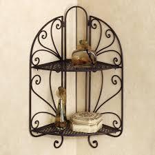 image of corner wrought iron wall decor