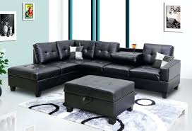 black faux leather sectional furniture friday sofa s new jersey