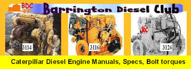 cat engine specs bolt torques and manuals cat 3114 3116 3126 specs bolt torques workshop service manuals