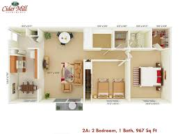 144 Square Feet Cider Mill Apartments Floor Plans