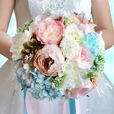 artificial wedding bouquets 2017 silk flowers bridal bouquet