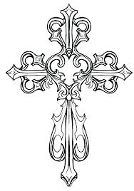 Cross Color Page Cross Coloring Pages Free Printable Cross Coloring