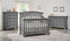 Taylor Westwood Design Crib Oxford Baby Richmond 4 In 1 Convertible Crib Brushed Grey