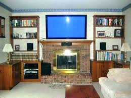 hanging tv on brick fireplace hang on brick wall mounting on brick fireplace mounting in brick