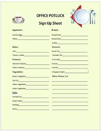Work Potluck Sign Up Sheet Insaat Mcpgroup Co